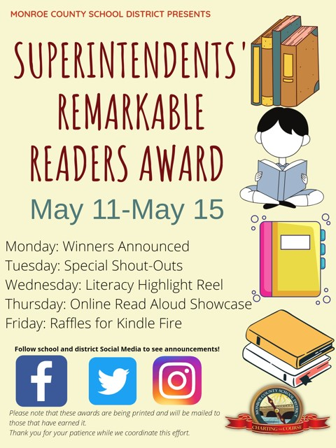 MHS Readers Announced!-Superintendents' Remarkable Readers Award (SRRA)
