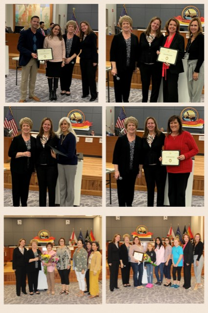 collage of MCSD January GEMS recipients.