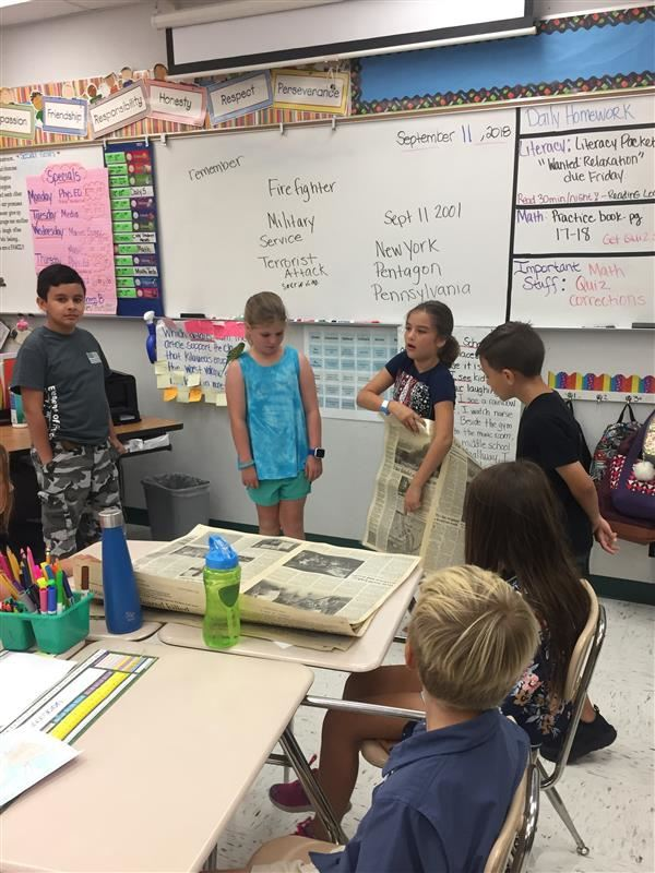 4th grade students honor 911