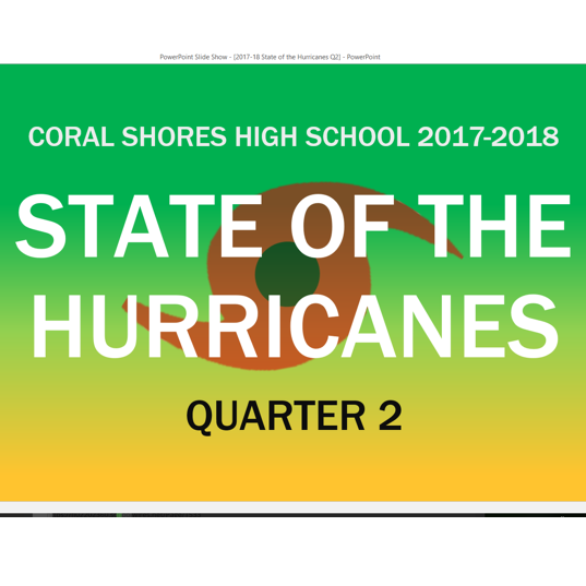 2017-18 2nd Quarter State of the Hurricanes PowerPoint